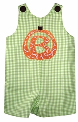 Custom Made Boy's Monogrammed Pumpkin Thanksgiving Outfit.