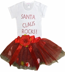 Attitude Pie Santa Clause Rocks Tutu Christmas Outfit