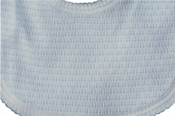 Baby Boy's Bib in  Blue Stripe Knit by Paty, Inc.
