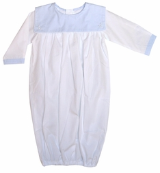 Baby Boy's Monogrammable Blue Square Collar Gown