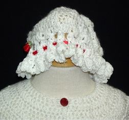 Baby Christmas Sweater for Girls or Boys in Red & Bonnet