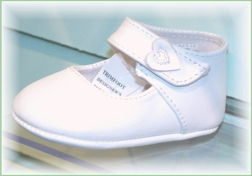 Baby Girl's White Leather Mary Jane Shoes.