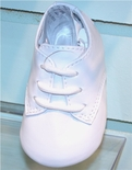 Baby Boy's White Leather Shoes.