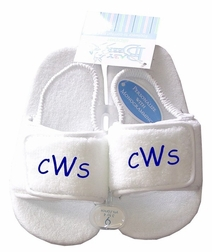 Monogrammed Personalized Baby Boy's And Girls Slippers.