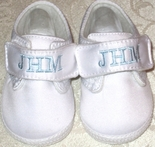 Monogrammed Baby Shoes for Boys by Baby Deer