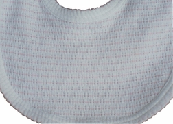 Baby Girl's Bib in Pink Stripe Knit by Paty, Inc.