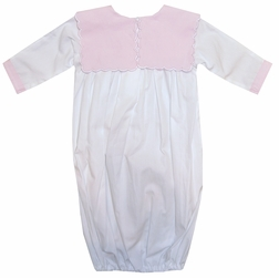 Baby Girl's Pink Monogrammable Collar Gown