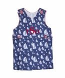 Banana Split Monogrammable Sailboats John John