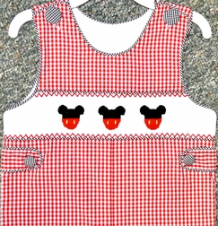Banana Split Smocked Mickey Mouse Longall