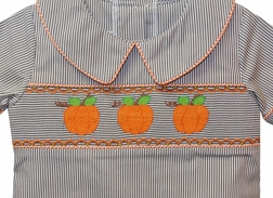 Banana Split Smocked Pumpkins Top and Pants Set for Boys