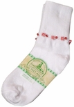 Girl's Monogrammed Personalized Flower & Beads Socks.