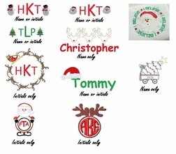 Boys Christmas Monograms