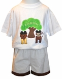 Boy's Animal Kingdom Shirt, John John or Outfit with Tree of Life and Mickey Ears Lion, Monkey, Elephant and Giraffe