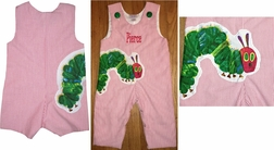 Boy's Hungry Caterpillar Custom John John Or Longall.