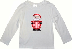 Boy's Monogrammed Santa Shirt or Shirt and Pants Outfit
