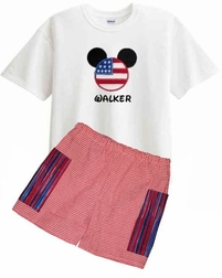 Disney Patriotic Mickey Mouse Custom 4th of July, Flag Outfit.