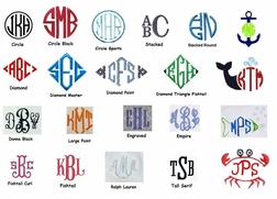Boy's Monogram Styles For Initials