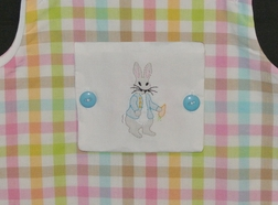Boy's Peter Rabbit Reversible Monogrammable Panel John John