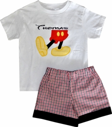 Boy's Mickey Mouse, Disney Monogrammed Outfit