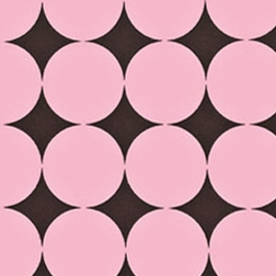 Brown and Pink Disco Dots