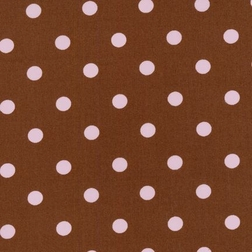 Brown with Pink Dots