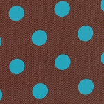 Brown with Turquoise Dots