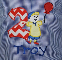 Caillou Monogrammed Birthday John John, Longall or Outfit