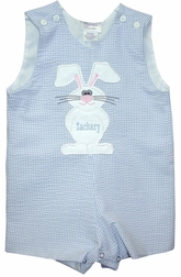 Custom Made Boy's Front And Back Bunny Rabbit Outfit.