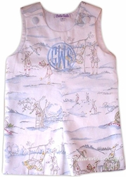 Custom Made Boy's Cottontail Bunny Toile John John Longall Or Outfit.