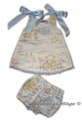 Custom Made Girl's Boy's Cottontail Bunny Toile Outfit.