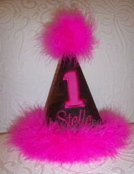 1st Birthday Number Hat For Girls And Boys.