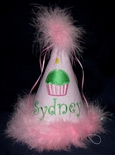 Children's Birthday Hat with Cupcake for 1st-7th Birthday Girls & Boys