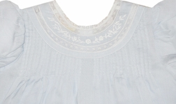 Carriage Boutiques Embroidered Dress in White, Pink or Blue