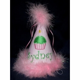Childrens Birthday Hat With Cupcake For 1st 7th Girls Boys