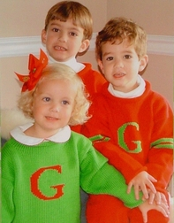 Children's Monogrammed Sweater, Baby's & Toddler's Personalized Sweater