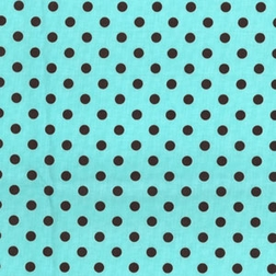 Chocolate Dumb Dots on Aqua