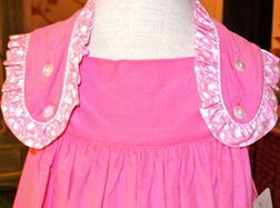 Claire & Charlie Girl's Monogrammable Pink Corduroy Dress