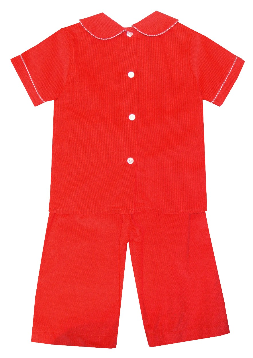 newest selection unparalleled Clearance sale Claire & Charlie Boy's Monogrammable Red Corduroy Pants Set