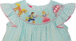 Smocked Disney Cinderella Princess Dress by Claire & Charlie
