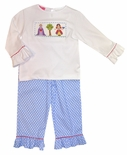 Claire & Charlie Smocked Snow White Shirt and Pants Set with the Witch/Queen