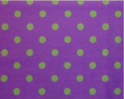 Coordinating Purple and Lime <br>Dots for Cameo Toile