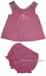 Custom Girl's Criss Cross Top & Bloomers or Shorts