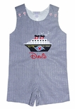 Boy's Disney Mickey Mouse Cruise Ship Shirt, Shorts Outfit or John John