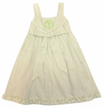 Cukees Monogrammable Lime Seersucker Bow Dress