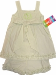 Cukees Monogrammable Lime Seersucker Bow Swing Top and Shorts