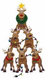 Custom Boy's Christmas Reindeer Tree Longall