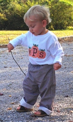 Custom Boy's Monogrammed Pumpkins Thanksgiving Outfit