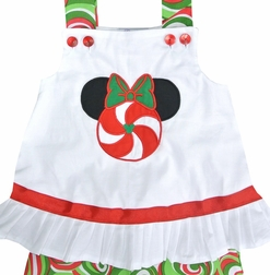 Custom Disney Christmas Peppermint Minnie Mouse Dress or Outfit