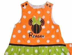 Minnie Mouse Swirly Pumpkin Dress or Outfit