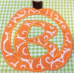 Custom Made Girl's Monogram Pumpkin Thanksgiving Dress